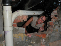 Inspecting in a crawlspace